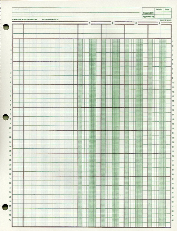 Accounting paper printable